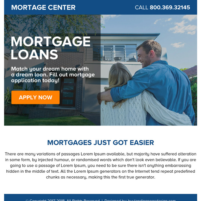 mortgage loans online application ppv landing page design Mortgage example