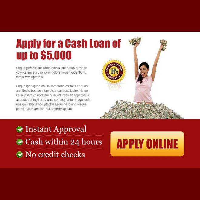 apply for a cash loan effective call to action ppv lander design template Loan example