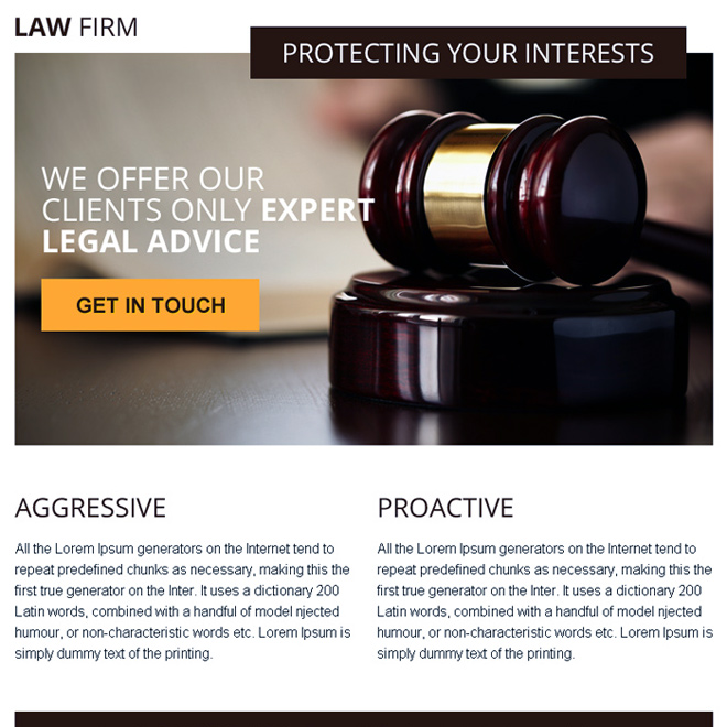 legal advice converting ppv landing page design Attorney and Law example
