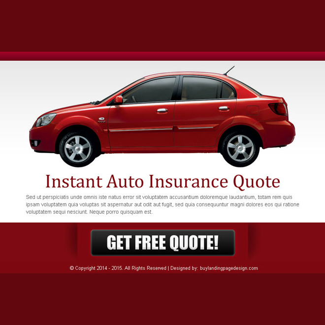 instant auto insurance free quote effective ppv lander design Auto Insurance example