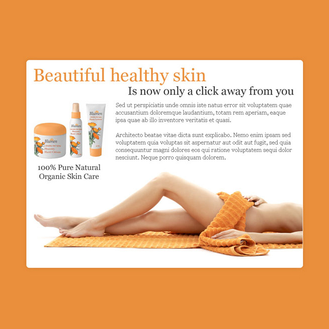 beautiful and healthy skin care product ppv landing page Skin Care example