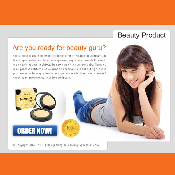 beauty product effective order now ppv landing page design PPV Landing Page example