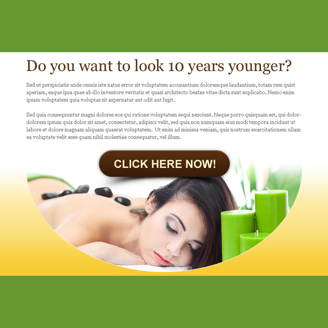 want to look 10 years younger beauty product ppv lander design PPV Landing Page example