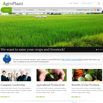 best agriculture website template design psd for sale on affordable price Website Template PSD example