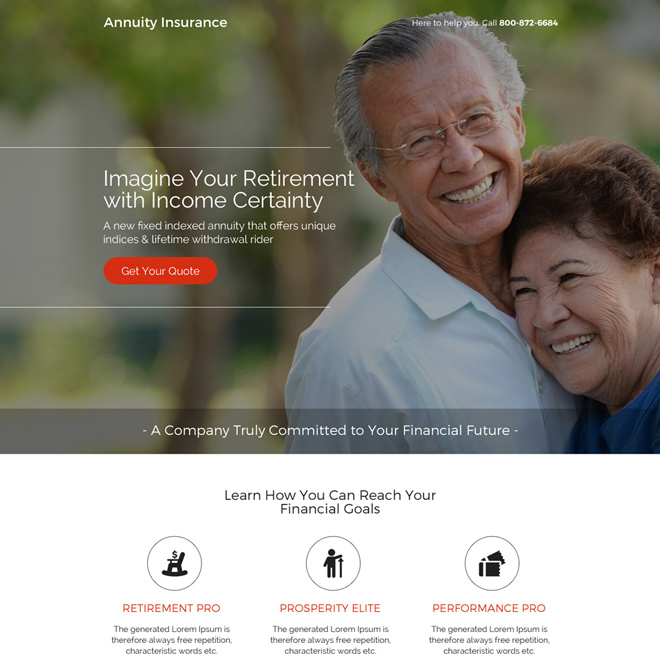 best annuity insurance quotes responsive landing page Retirement Planning example