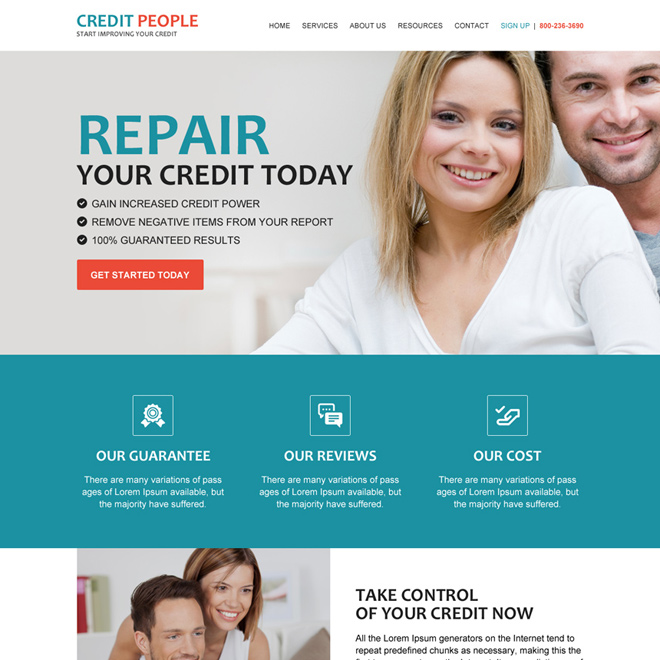 best credit repair companies html website template design Credit Repair example
