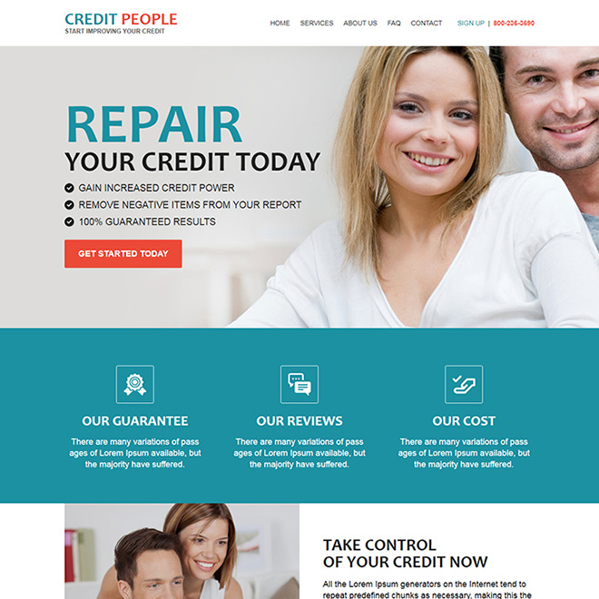 best credit repair companies responsive html website design Credit Repair example
