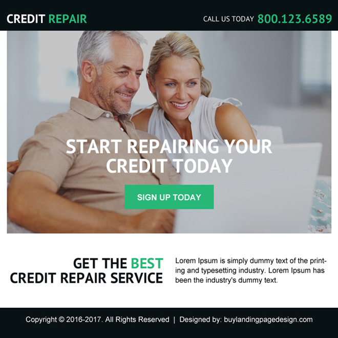 best credit repair service ppv landing page design Credit Repair example