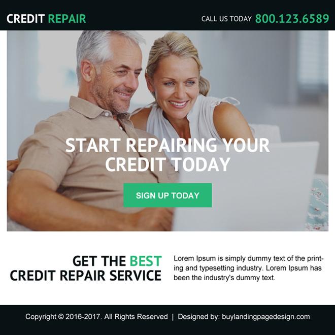 best credit repair service ppv landing page design Credit Repair example
