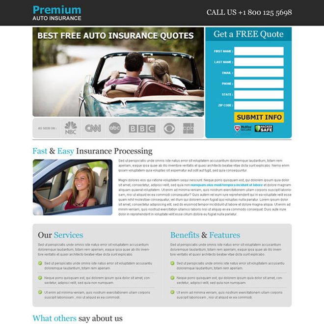 Best Free Auto Insurance Quotes Effective Lead Capture