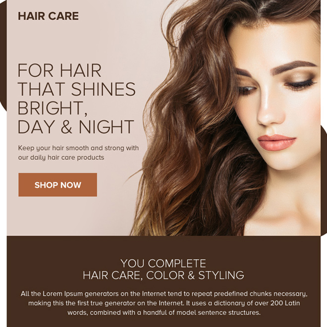 minimal hair care products ppv design Hair Care example