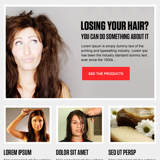 best hair loss product call to action ppv landing page design Hair Loss example