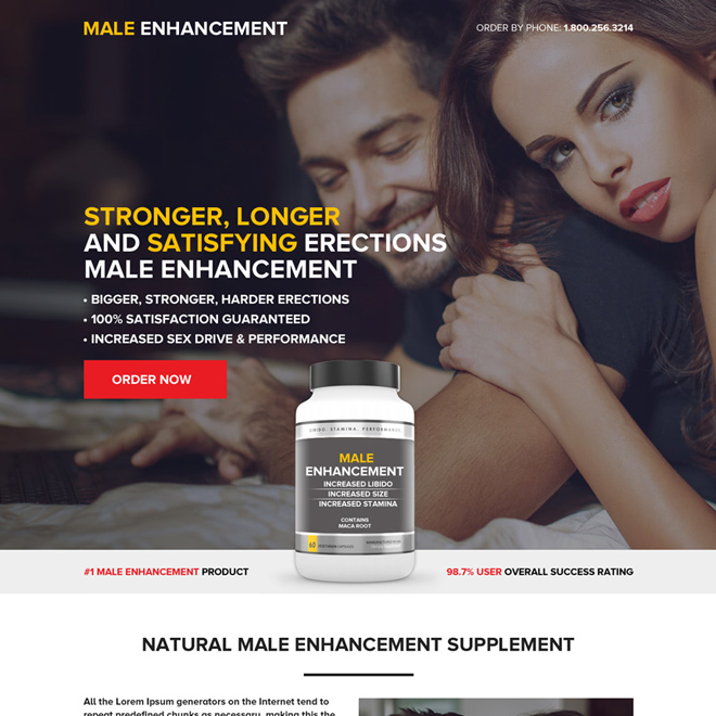 best male enhancement pills selling landing page design Male Enhancement example