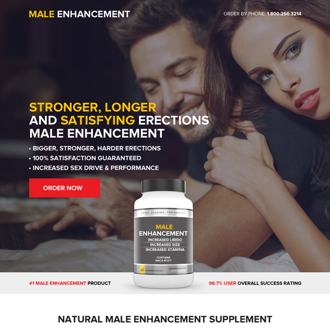 best male enhancement pills selling responsive landing page Male Enhancement example