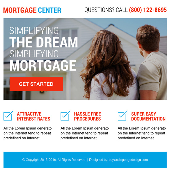 best mortgage center ppv landing page design Mortgage example