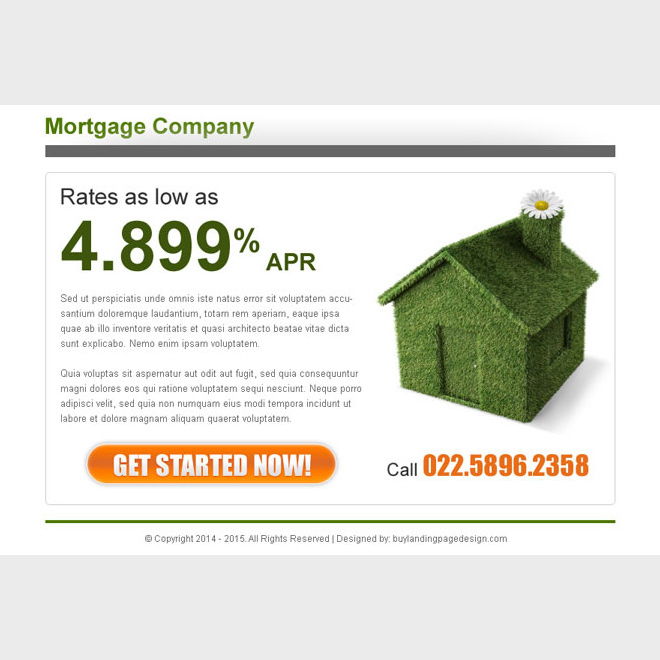 mortgage company clean and effective ppv lander design Mortgage example