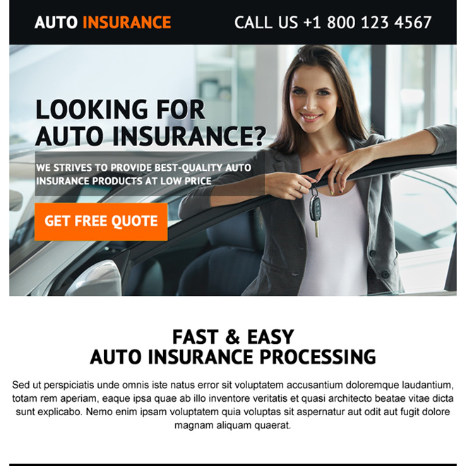 best quality auto insurance ppv landing page design Auto Insurance example