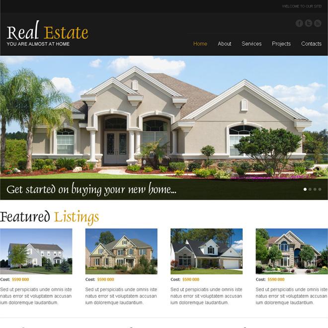 best real estate listing responsive website design Real Estate example