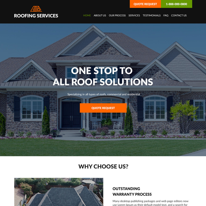 best commercial and residential roofing website design Roofing example