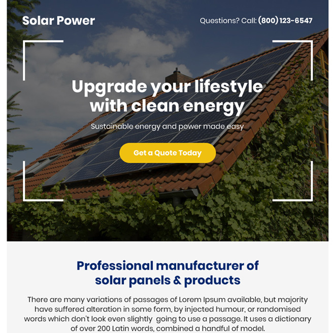 best solar panels and products ppv landing page design Solar Energy example