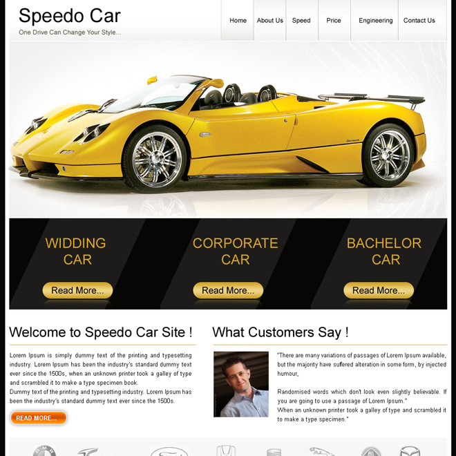 Creative and best website template psd for sale to create your – Template for Sale of Car