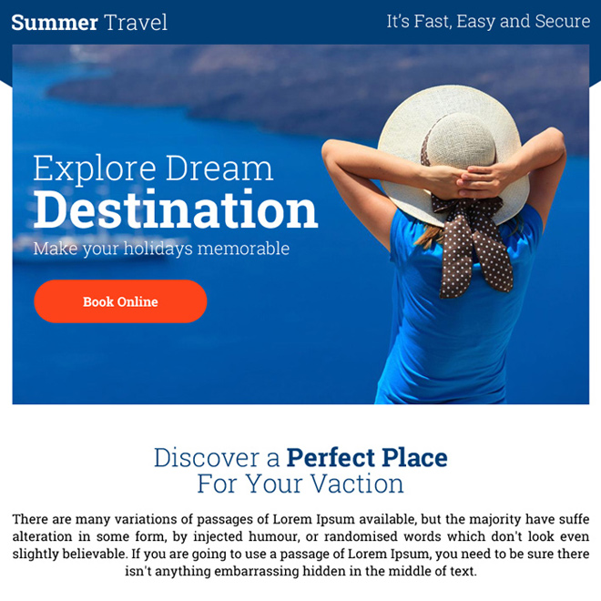 best summer travel destinations ppv landing page Travel example