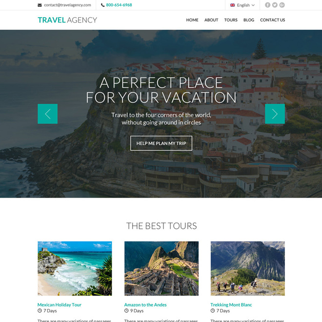 best tour and travel responsive website design Travel example
