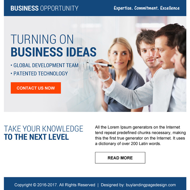 ideal ppv landing page design for business opportunity Business Opportunity example
