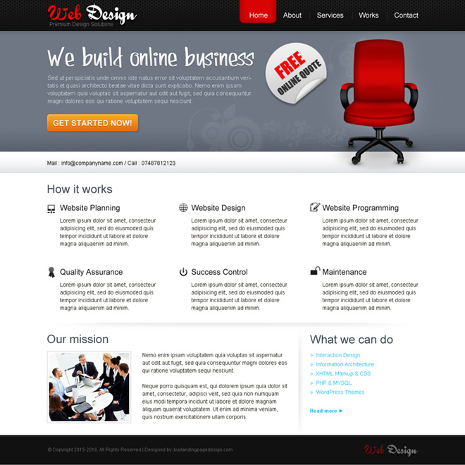 best web design company website template design psd Website Template PSD example