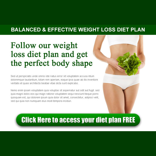 best weight loss diet plan ppv landing page design template PPV Landing Page example