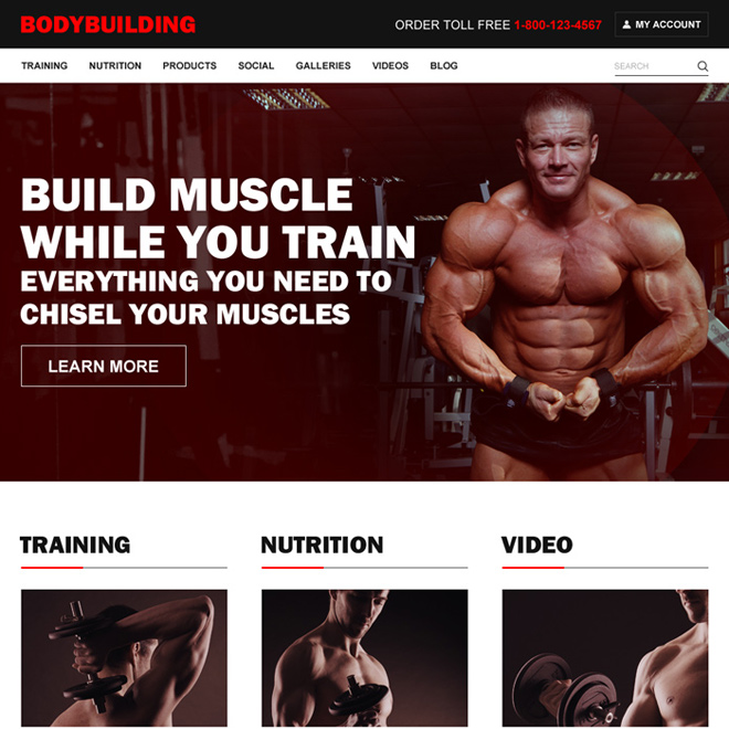 bodybuilding effective and converting html website templates Body Building example