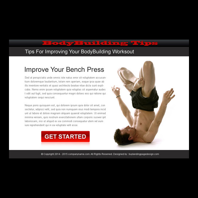 bodybuilding call to action ppv landing page design PPV Landing Page example