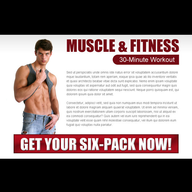 muscle and fitness ppv landing page design Bodybuilding example