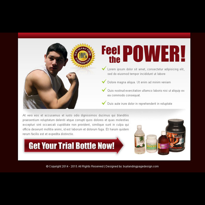 bodybuilding product converting ppv landing page design Bodybuilding example