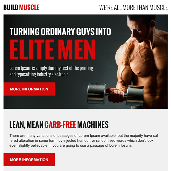 build muscle appealing ppv landing page design Bodybuilding example
