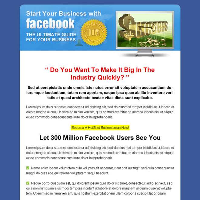 business ebook call to action sales page design Sales Page example