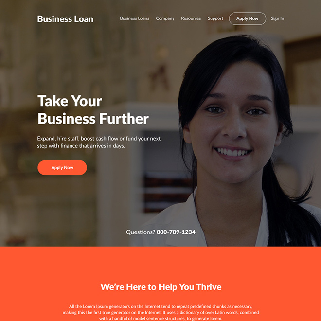 business loan online application responsive website design Business Loan example