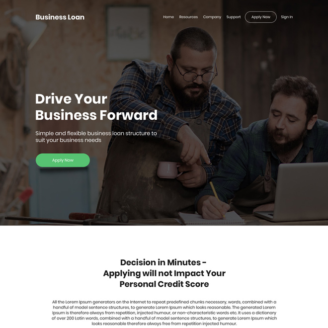 small business funding bootstrap website design Business Loan example