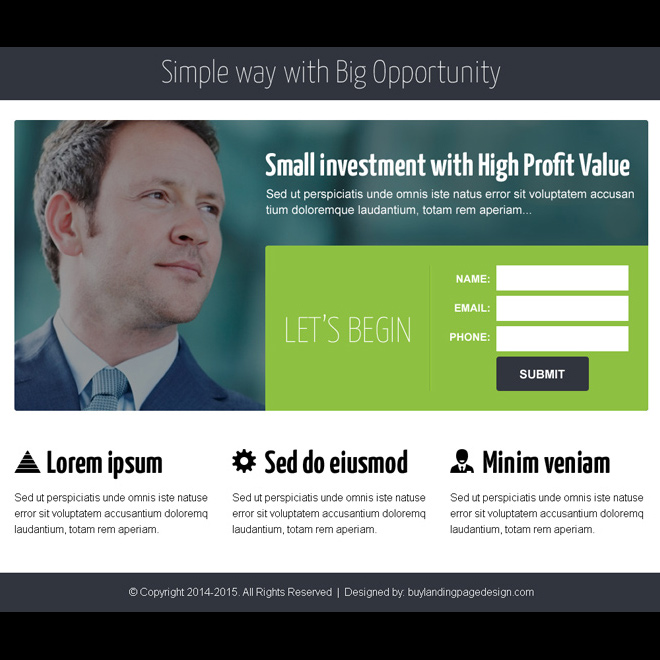 business opportunity lead capture ppv landing page design Business Opportunity example