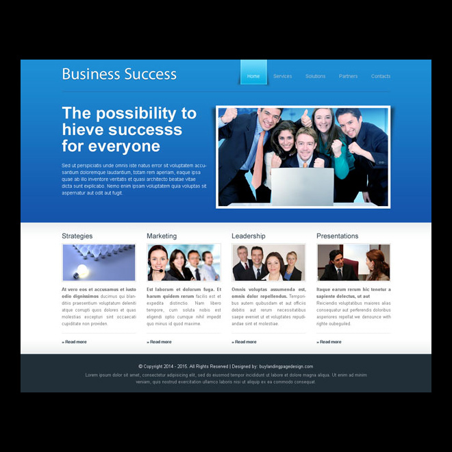website template psd to make your business a huge sucess Website Template PSD example