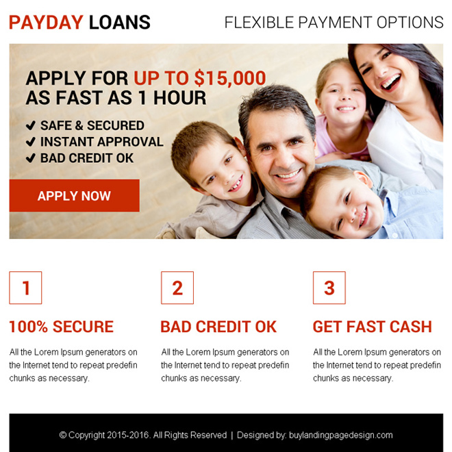 best payday loan ppv landing page design Payday Loan example