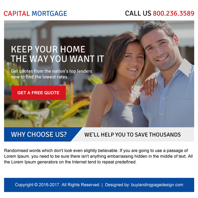 appealing capital mortgage ppv landing page design Mortgage example