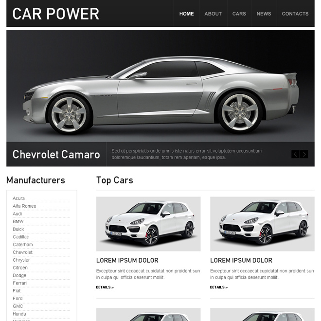 car dealer clean and converting html website template design Car and Vehicles example
