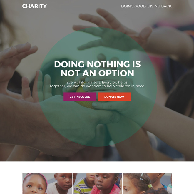 charity and donation bootstrap landing page Charity And Donation example