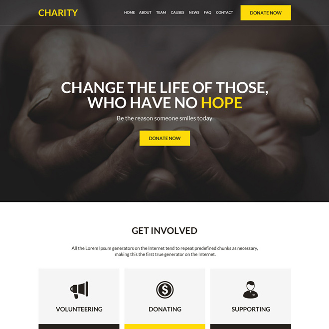 charity and donation responsive website design Charity And Donation example