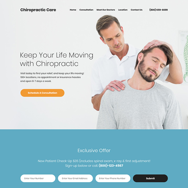 affordable chiropractic care responsive website design Chiropractic example