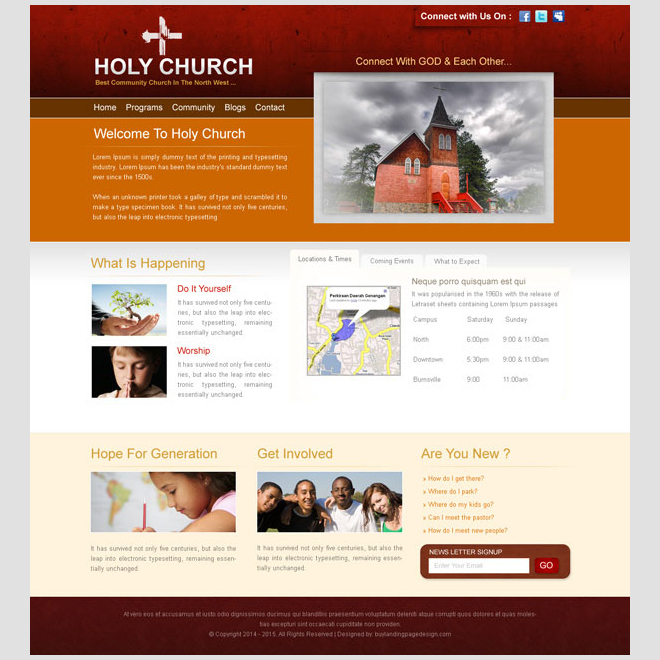 Creative Best Website Template Psd For Sale To Create Your Website - Church website templates