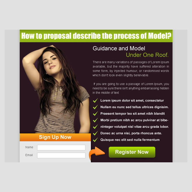 guidance and model effective lead capture ppv landing page template PPV Landing Page example
