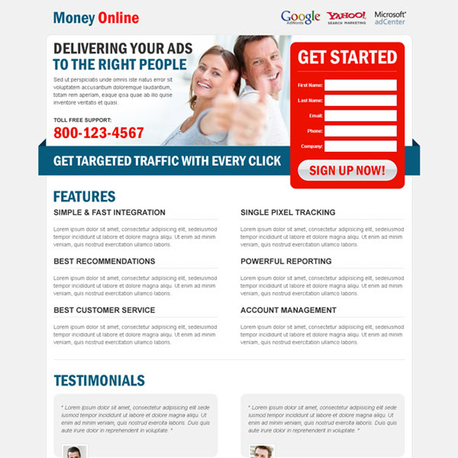 make money online clean and creative lead capture squeeze page design to boost your leads Make Money Online example