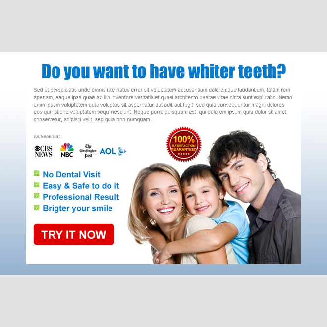 teeth whitening clean and attractive call to action ppv landing page design Teeth Whitening example